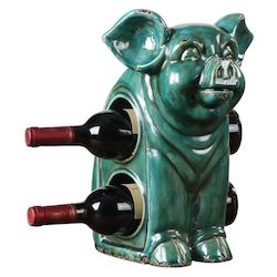 Uttermost Uttermost Oink Ceramic Wine Holder