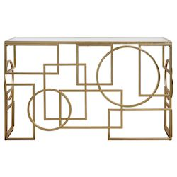 Uttermost Uttermost Metria Gold Console Table
