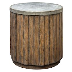 Uttermost Uttermost Maxfield Wooden Drum Accent Table