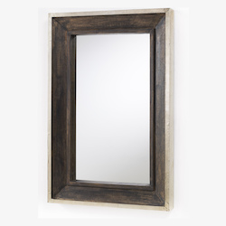Capital Rectangular Decorative Wooden Mirror