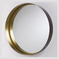 Capital Round Decorative Metal Frame Mirror
