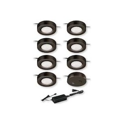 Vaxcel International Dual Mount Instalux® Under Cabinet Puck Light 7-Pack Kit