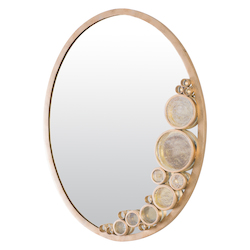 Varaluz Fascination Oval Mirror - Zen Gold