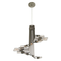 Varaluz Socket-To-Me 12-Lt Chandelier - New Bronze