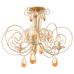 Varaluz Elysse 3-Lt Crystal Ceiling Light