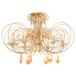 Varaluz Elysse 6-Lt Crystal Ceiling Light