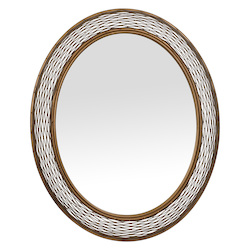 Varaluz Flow Oval Mirror - Hammered Ore