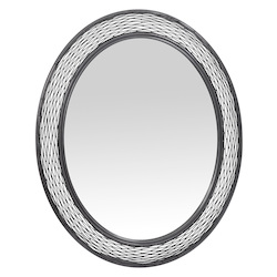 Varaluz Flow Oval Mirror - Steel