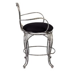 Varaluz Flow Counter-Height Armed Bar Stool - Steel