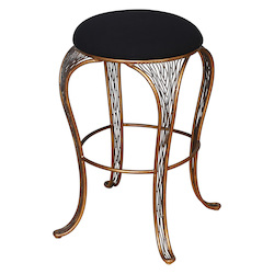 Varaluz Flow Bar-Height Backless Bar Stool - Hammered Ore