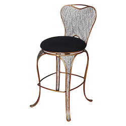 Varaluz Flow Bar-Height Armless Bar Stool - Hammered Ore