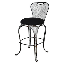 Varaluz Flow Bar-Height Armless Bar Stool - Steel
