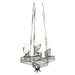 Varaluz Flow 3-Lt Chandelier - Steel