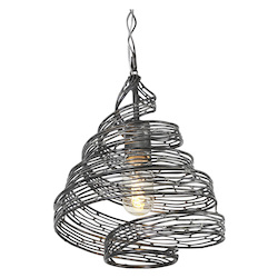 Varaluz Flow 1-Lt Twist Mini Pendant - Steel