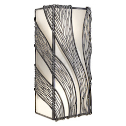 Varaluz Flow 2-Lt Vertical Wall Sconce - Steel