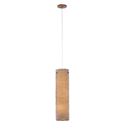 Varaluz Flow 3-Lt Tall Foyer Pendant - Hammered Ore
