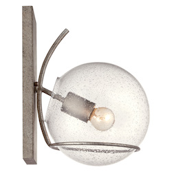 Varaluz Watson 1-Lt Wall Sconce - Silver Age