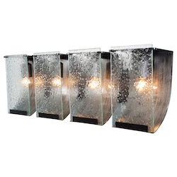 Varaluz Rain 4-Lt Bath Fixture - Rainy Night