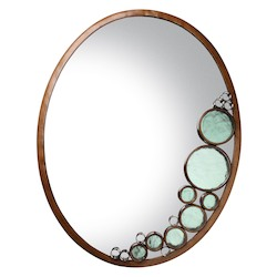 Varaluz Fascination Oval Mirror - Hammered Ore