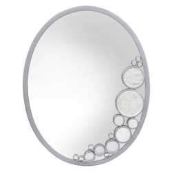 Varaluz Fascination Oval Mirror - Metallic Silver