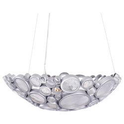 Varaluz Fascination 3-Lt Bowl Pendant - Metallic Silver