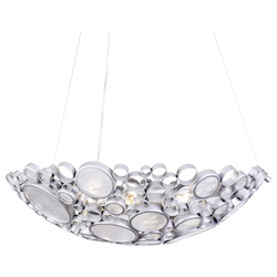 Varaluz Fascination 4-Lt Bowl Pendant - Metallic Silver