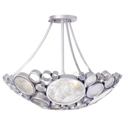 Varaluz Fascination 3-Lt Ceiling Light - Metallic Silver