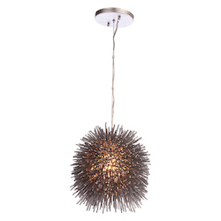 Varaluz Urchin 1-Lt Mini Pendant - Painted Chrome