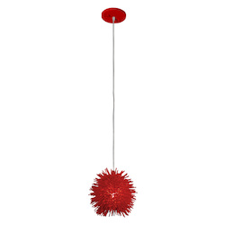 Varaluz Urchin 1-Lt Uber Mini Pendant - Super Red