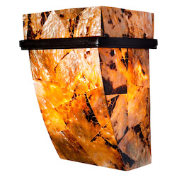 Varaluz Big 1-Lt Wall Sconce - Chocolate Tiger