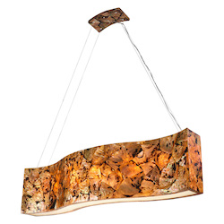 Varaluz Big 6-Lt Linear Pendant - Chocolate Tiger