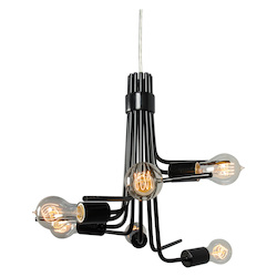 Varaluz Socket-To-Me 6-Lt Chandelier - Black
