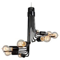 Varaluz Socket-To-Me 8-Lt Chandelier - Black