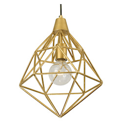 Varaluz Facet 1-Lt Mini Pendant - Gold Leaf
