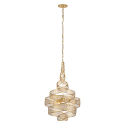 Varaluz Flow 3-Lt Twist Pendant - Gold Leaf