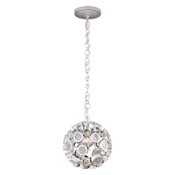 Varaluz Fascination 1-Lt Orb Mini Pendant - Metallic Silver