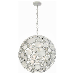 Varaluz Fascination 6-Lt Orb Pendant - Metallic Silver