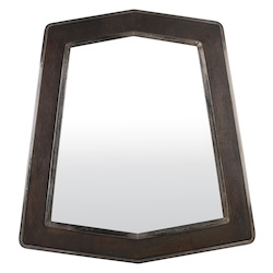 Varaluz Lofty Mirror - Steel W/ Zebrawood