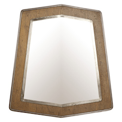 Varaluz Lofty Mirror - Steel W/ Wheat