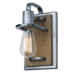 Varaluz Lofty 1-Lt Bath Fixture - Steel W/ Wheat