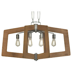 Varaluz Lofty 6-Lt Linear Pendant - Steel W/ Wheat