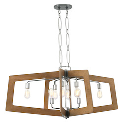 Varaluz Lofty 8-Lt Linear Pendant - Steel W/ Wheat