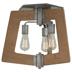 Varaluz Lofty 3-Lt Ceiling Light - Steel W/ Wheat