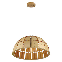Varaluz Wooda Coulda Shoulda 3-Lt Dome Pendant