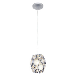 Varaluz Fascination 1-Lt Mini Pendant - Metallic Silver