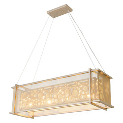 Varaluz Fascination 4-Lt Linear Pendant - Zen Gold