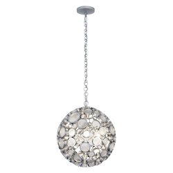 Varaluz Fascination 3-Lt Orb Pendant - Metallic Silver