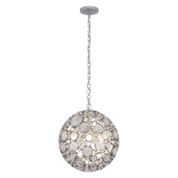 Varaluz Fascination 8-Lt Orb Pendant - Metallic Silver