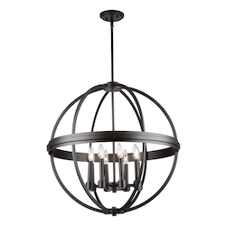 Artcraft Roxbury Ac10698Ob 8 Light Chandelier