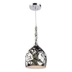 Artcraft Forged Metal Ac10742Ch 1 Light Pendant